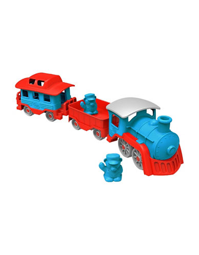 Green Toys Steam Engine Train Set-BLUE-One Size