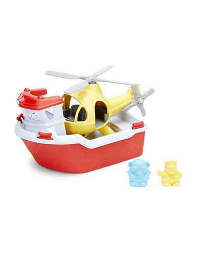 Green Toys Rescue Boat with Helicopter Set-ASSORTED-One Size
