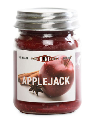 Country Home Candle Applejack Candle Jar-DARK RED-One Size