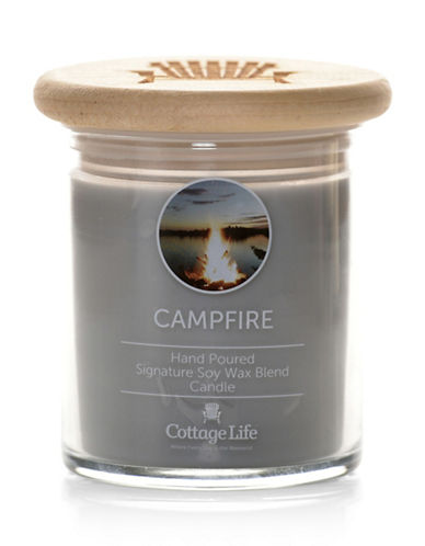 Country Home Candle Cottage Life Collection Campfire Candle-GREY-One Size