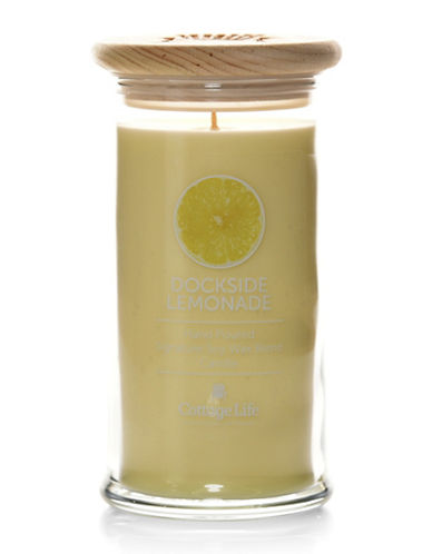 Country Home Candle Cottage Life Collection Dockside Lemonade Candle-YELLOW-One Size
