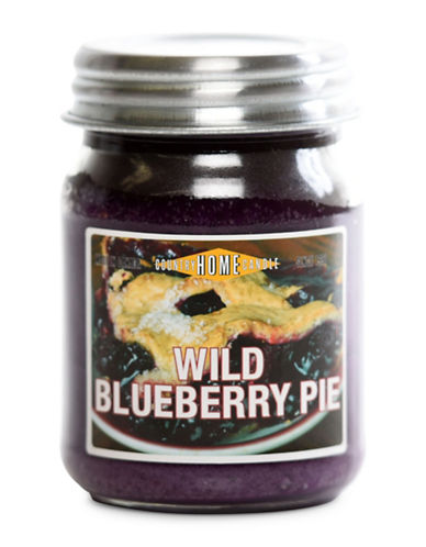 Country Home Candle Wild Blueberry Pie Candle Jar-BLUE-One Size