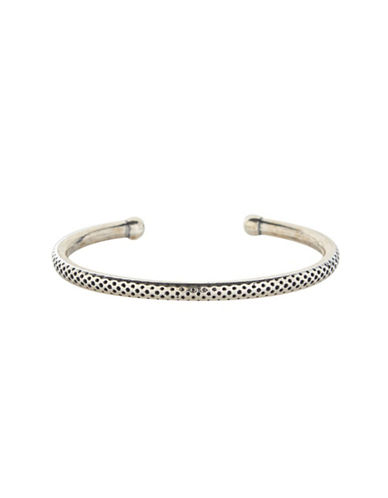 Degs And Sal Sterling Silver Perforated Bracelet-SILVER-One Size