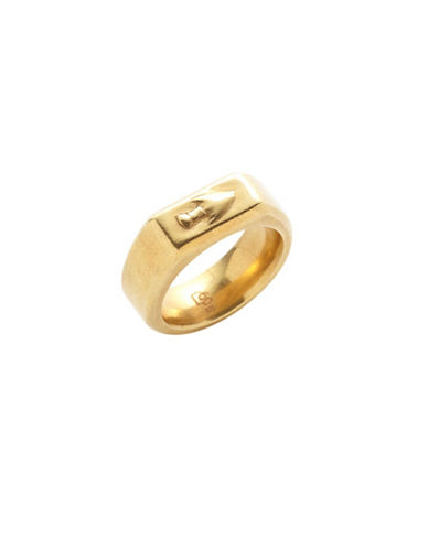 Degs And Sal Goldplated Sterling Silver Arrow Head Ring-GOLD-One Size