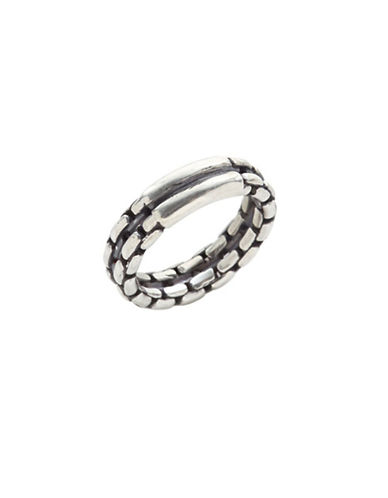 Degs And Sal Sterling Silver Chain-Link Ring-SILVER-One Size