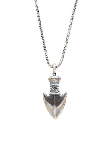 Degs And Sal Sterling Silver Arrow Head Necklace-SILVER-One Size