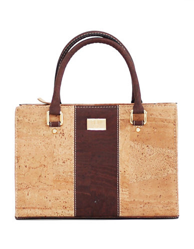 Rok Cork Carolyna Medium Cork Satchel-BROWN-One Size