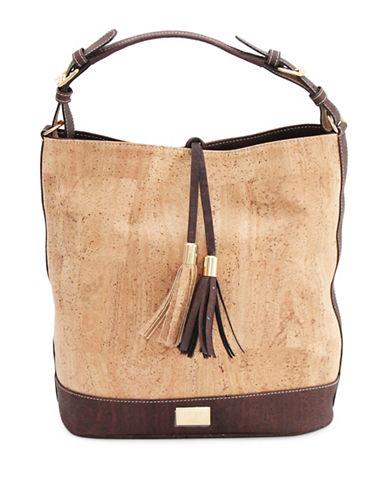 Rok Cork Julia Cork Hobo Bag-NATURAL-One Size