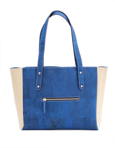 Rok Cork Carminda Work Tote-BLUE-One Size