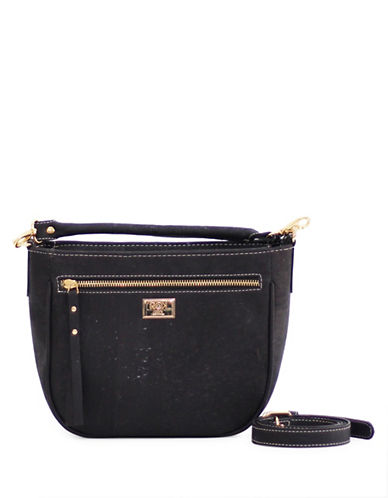 Rok Cork Ewelina Saddle Bag-BLACK-One Size