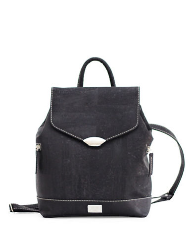 Rok Cork Jillian Vegan Trendy Backpack-BLACK-One Size