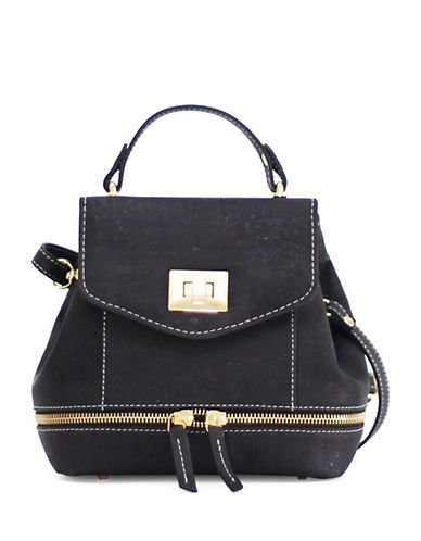 Rok Cork Suzy Q Mini Backpack-BLACK-One Size