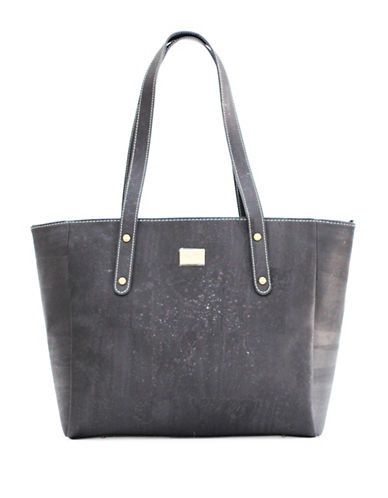 Rok Cork Carminda Work Tote-BLACK-One Size