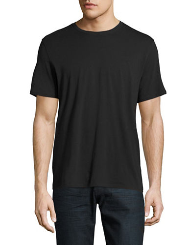 Black Brown 1826 Pima Cotton T-Shirt-BLACK-Small