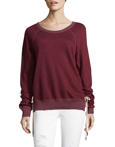Philanthropy Lace Detail Sweater-RED-Large