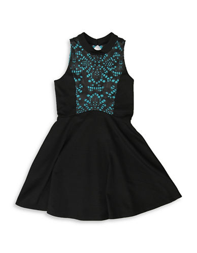 Ava & Yelly Pom Pom Dress-BLACK-10