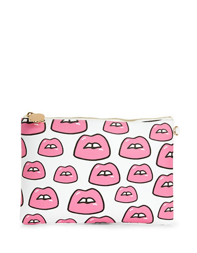 Stoney Clover Lane Lips Pouch-PINK-One Size