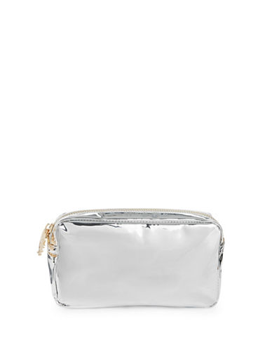 Stoney Clover Lane Metallic Pouch-SILVER-One Size