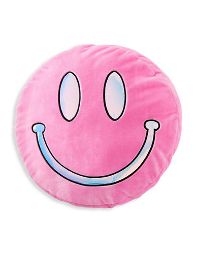 Stoney Clover Lane Smiley Pillow-PINK-One Size