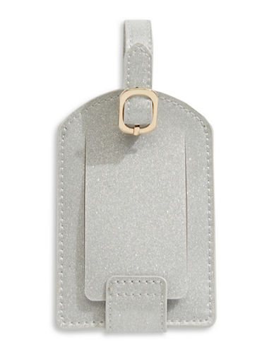 Stoney Clover Lane Glitter Luggage Tag-SILVER-One Size