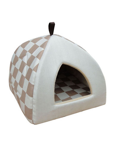 Petpals Checker Pet Cabana-BEIGE-One Size
