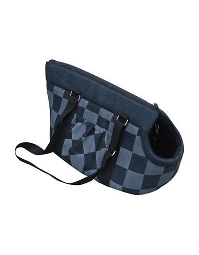Petpals Checker Pet Carrier-BLUE-One Size
