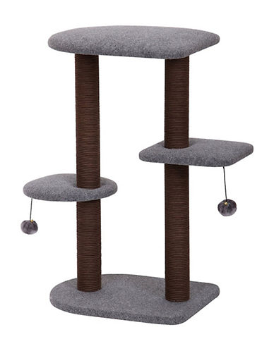 Petpals Groovy Cat Tree with Toys-GREY-One Size