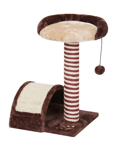 Petpals Mojo Assembled Cat Tree-BROWN-One Size
