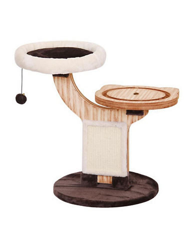 Petpals Twine Two-Level Cat Tree-BROWN-One Size