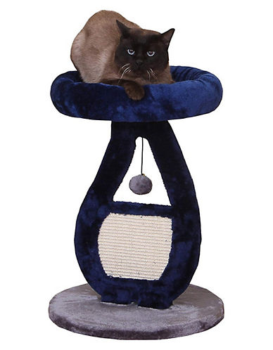 Petpals Cat Tree with Sisal Mat-BLUE-One Size
