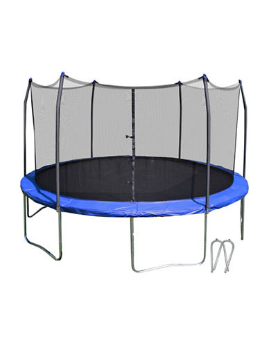 Skywalker Trampolines 14-Foot Round Trampoline with Enclosure-BLUE-One Size