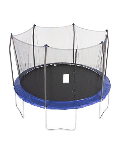 Skywalker Trampolines 12-Foot Round Trampoline with Enclosure-BLUE-One Size