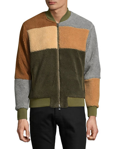 Shwdbx Teddy Colourblock Jacket-BROWN-Medium 89492608_BROWN_Medium
