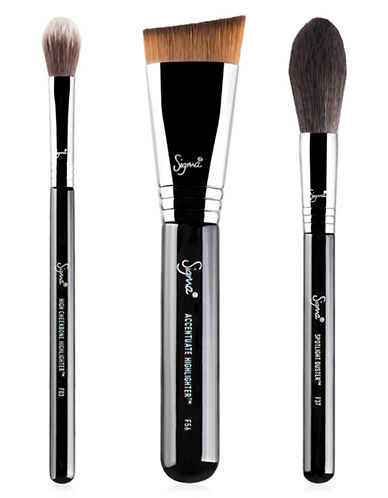 Sigma Beauty Highlight Expert Three-Piece Brush Set-NO COLOR-One Size