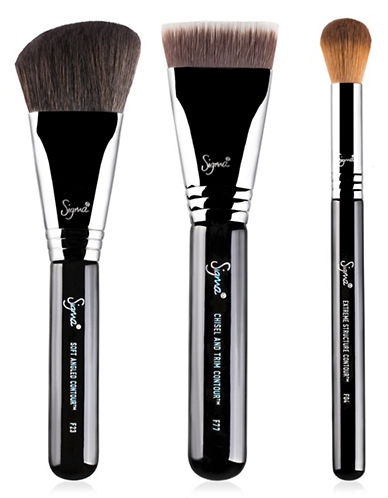 Sigma Beauty Contour Expert Three-Piece Brush Set-NO COLOR-One Size