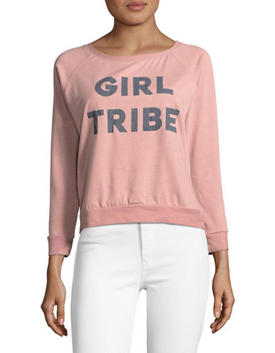 Prince Peter Collections Girl Tribe Pullover-DUSTY PINK-X-Small