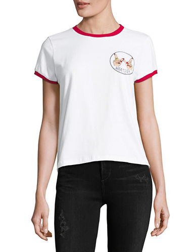 Prince Peter Collections Cotton Ringer Tee-WHITE/RED-X-Small