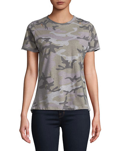 Prince Peter Collections Camo Short Sleeve Cotton T-Shirt-GREY-X-Small 89972170_GREY_X-Small