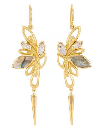 Melinda Maria Gold Plated Semi Precious Stone Earring-LABRADORITE-One Size