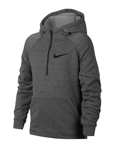 Nike Dry Training Hoodie-GREY-X-Large