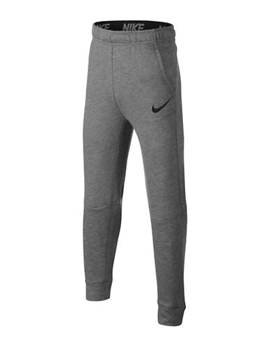Nike Dry Fleece Training Pants-GREY-Small