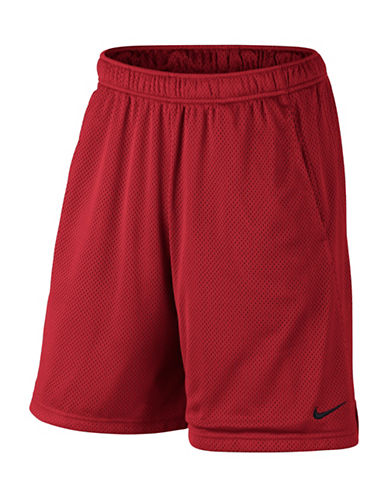 Nike Monster Mesh Shorts-RED-Small