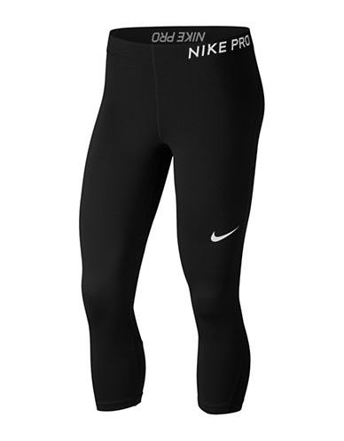 Nike Cropped Leggings-BLACK-Small