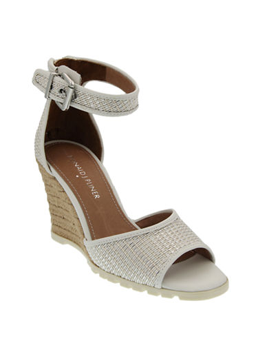39b8e266b7a ... UPC 821004136133 product image for Donald J. Pliner Brook Wedge Sandals- WHITE-6 ...
