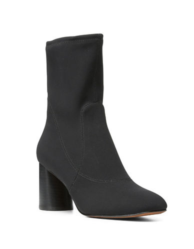 Donald J. Pliner Gisele Stacked Heel Booties-BLACK-9.5