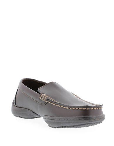 Kenneth Cole Reaction Driving Dime Loafers-BROWN-5