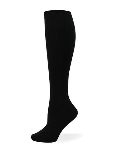 Point Zero Basic Knee-High Socks-BLACK-One Size