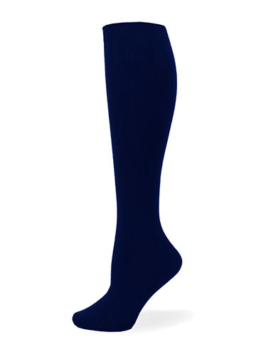 Point Zero Basic Knee-High Socks-NAVY-One Size