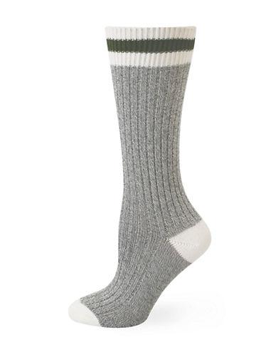 Point Zero Point Zero Thermal Compression Work Socks-GREY-One Size