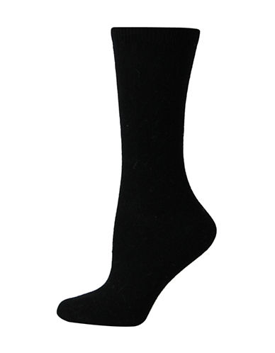 Point Zero Point Zero Angora-Blend Socks-BLACK-One Size